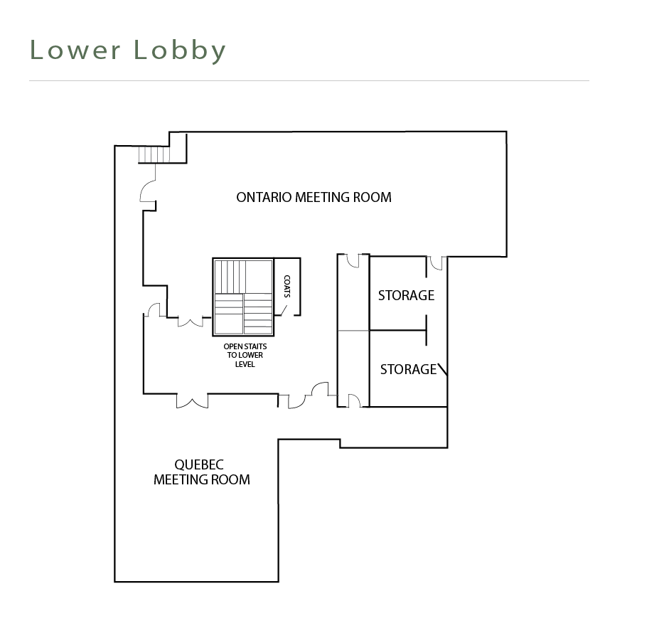 Lower Lobby floor plan