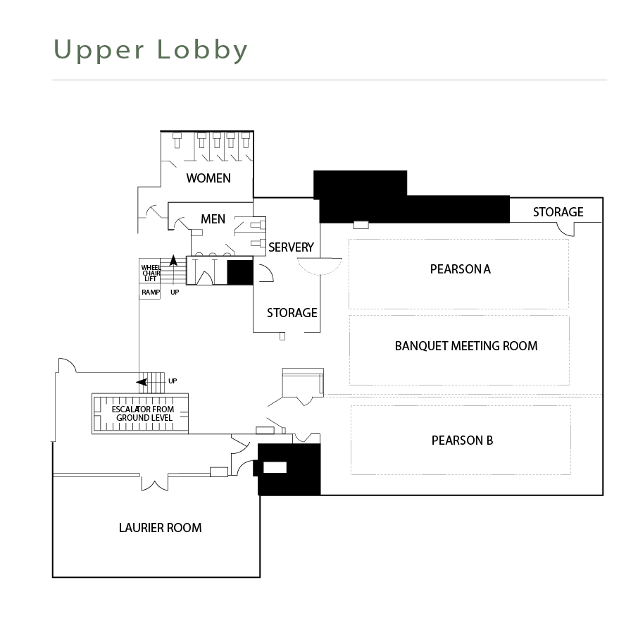 Laurier Room floor plan