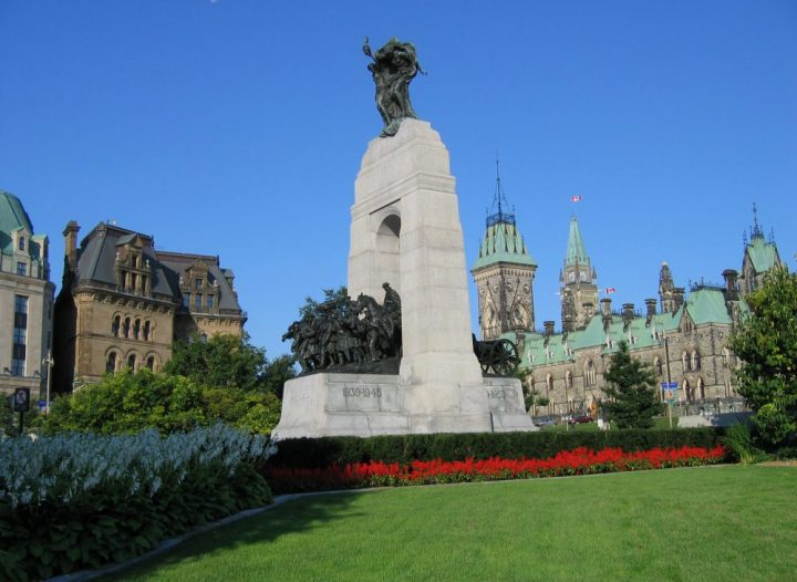 National War Memorial Ottawa. Remembrance day ceremonies happen here.