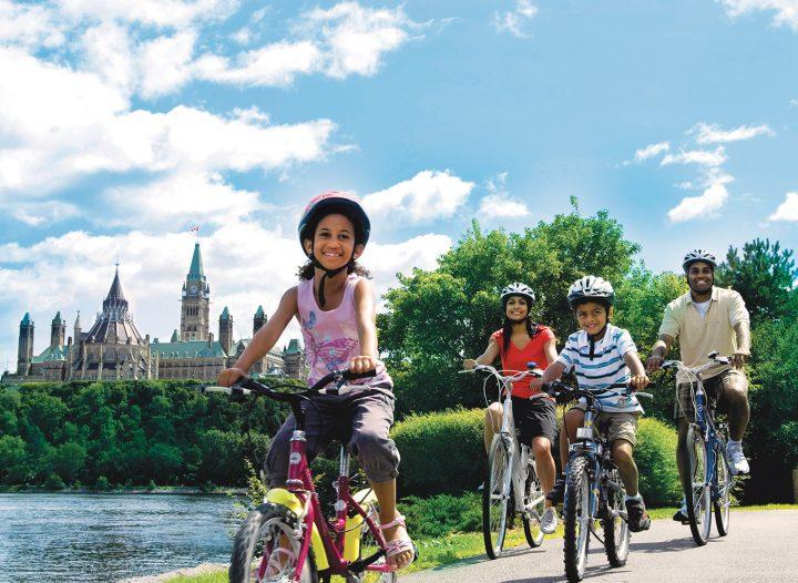 Family Cycling in Ottawa