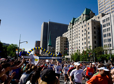 Ottawa Marathon -Lord Elgin Hotel downtown Ottawa