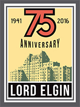 75th Anniversary logo - Lord Elgin Hotel Ottawa
