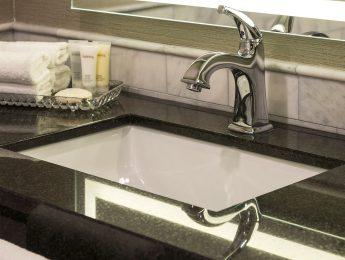 Renovated bathroom- Lord Elgin Hotel