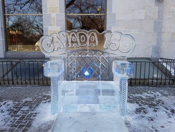 Winterlude ice bench