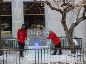 Lord Elgin Hotel Ice Bench - Winterlude 2017