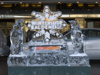 A special ice sculpture celebrating Winterlude Ottawa
