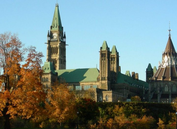 Fall in Ottawa - Parliament Buildings - just a short walk from the Lord Elgin Hotel