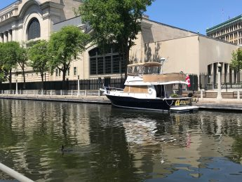 Boat on the Rideau Canal