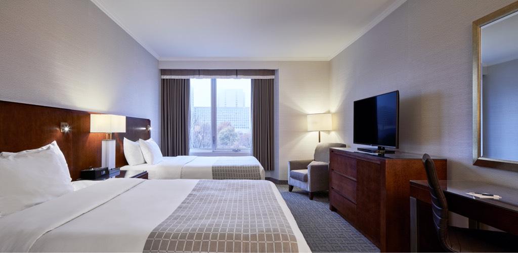 Chambre à deux lits Queen avec vue sur le parc