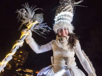 A woman in a costume during Winterlude Ottawa