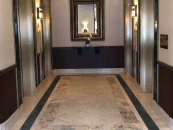 elevator vestibule today in hotel