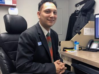 Picture of anwar at his desk